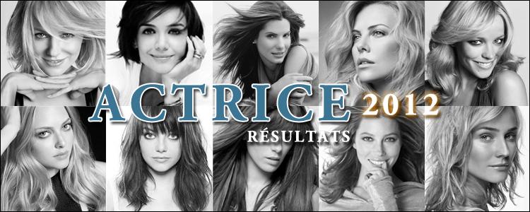 Actrice 2012 résultats