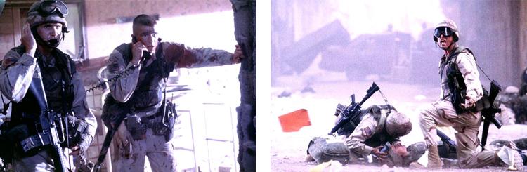 Photo la chute du faucon noir