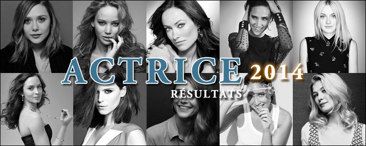 Actrice 2014 résultats